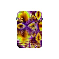 Golden Violet Crystal Palace, Abstract Cosmic Explosion Apple Ipad Mini Protective Sleeve by DianeClancy