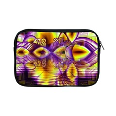 Golden Violet Crystal Palace, Abstract Cosmic Explosion Apple Ipad Mini Zippered Sleeve by DianeClancy