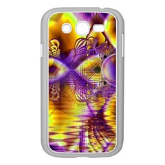 Golden Violet Crystal Palace, Abstract Cosmic Explosion Samsung Galaxy Grand Duos I9082 Case (white) by DianeClancy