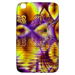 Golden Violet Crystal Palace, Abstract Cosmic Explosion Samsung Galaxy Tab 3 (8 ) T3100 Hardshell Case  by DianeClancy
