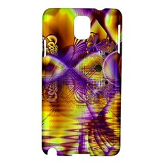 Golden Violet Crystal Palace, Abstract Cosmic Explosion Samsung Galaxy Note 3 N9005 Hardshell Case by DianeClancy