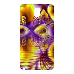 Golden Violet Crystal Palace, Abstract Cosmic Explosion Samsung Galaxy Note 3 N9005 Hardshell Back Case by DianeClancy
