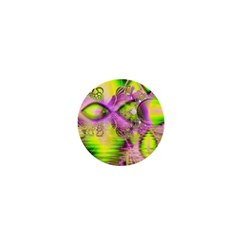 Raspberry Lime Mystical Magical Lake, Abstract  1  Mini Button by DianeClancy