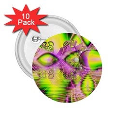 Raspberry Lime Mystical Magical Lake, Abstract  2 25  Button (10 Pack) by DianeClancy