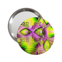 Raspberry Lime Mystical Magical Lake, Abstract  Handbag Mirror (2 25 ) by DianeClancy