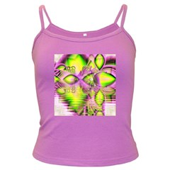 Raspberry Lime Mystical Magical Lake, Abstract  Spaghetti Top (colored) by DianeClancy