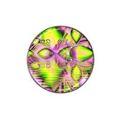Raspberry Lime Mystical Magical Lake, Abstract  Golf Ball Marker 4 Pack (for Hat Clip) by DianeClancy