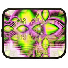 Raspberry Lime Mystical Magical Lake, Abstract  Netbook Sleeve (xl) by DianeClancy