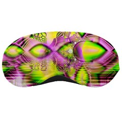 Raspberry Lime Mystical Magical Lake, Abstract  Sleeping Mask by DianeClancy