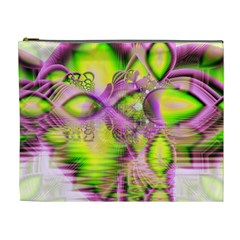 Raspberry Lime Mystical Magical Lake, Abstract  Cosmetic Bag (xl) by DianeClancy