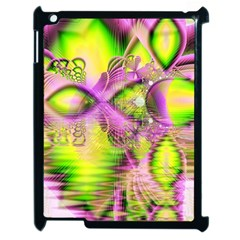 Raspberry Lime Mystical Magical Lake, Abstract  Apple Ipad 2 Case (black) by DianeClancy