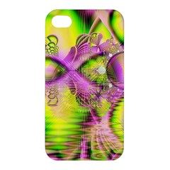 Raspberry Lime Mystical Magical Lake, Abstract  Apple Iphone 4/4s Premium Hardshell Case by DianeClancy