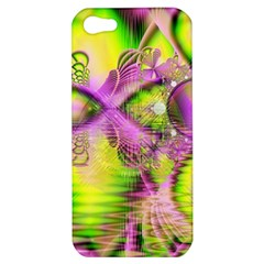 Raspberry Lime Mystical Magical Lake, Abstract  Apple Iphone 5 Hardshell Case by DianeClancy