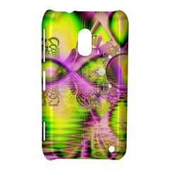Raspberry Lime Mystical Magical Lake, Abstract  Nokia Lumia 620 Hardshell Case by DianeClancy