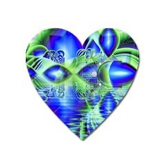 Irish Dream Under Abstract Cobalt Blue Skies Magnet (heart) by DianeClancy