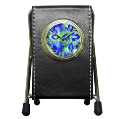 Irish Dream Under Abstract Cobalt Blue Skies Stationery Holder Clock by DianeClancy