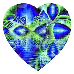 Irish Dream Under Abstract Cobalt Blue Skies Jigsaw Puzzle (heart) by DianeClancy
