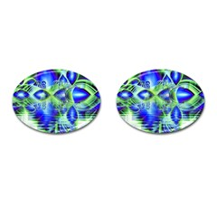 Irish Dream Under Abstract Cobalt Blue Skies Cufflinks (oval) by DianeClancy