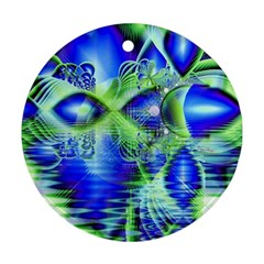 Irish Dream Under Abstract Cobalt Blue Skies Round Ornament (two Sides) by DianeClancy