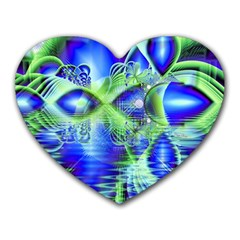 Irish Dream Under Abstract Cobalt Blue Skies Mouse Pad (heart) by DianeClancy