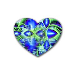 Irish Dream Under Abstract Cobalt Blue Skies Drink Coasters 4 Pack (heart)  by DianeClancy