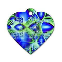 Irish Dream Under Abstract Cobalt Blue Skies Dog Tag Heart (one Sided)  by DianeClancy