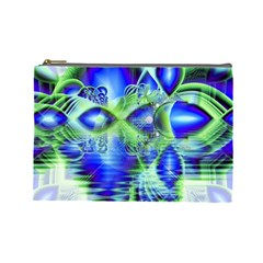 Irish Dream Under Abstract Cobalt Blue Skies Cosmetic Bag (large) by DianeClancy