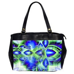 Irish Dream Under Abstract Cobalt Blue Skies Oversize Office Handbag (two Sides) by DianeClancy