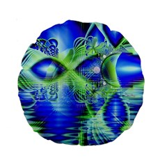 Irish Dream Under Abstract Cobalt Blue Skies 15  Premium Round Cushion  by DianeClancy