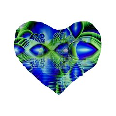 Irish Dream Under Abstract Cobalt Blue Skies 16  Premium Heart Shape Cushion  by DianeClancy