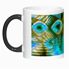 Crystal Gold Peacock, Abstract Mystical Lake Morph Mug by DianeClancy