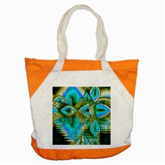 Crystal Gold Peacock, Abstract Mystical Lake Accent Tote Bag by DianeClancy
