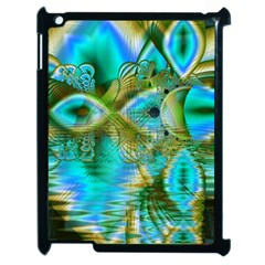 Crystal Gold Peacock, Abstract Mystical Lake Apple Ipad 2 Case (black) by DianeClancy