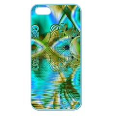 Crystal Gold Peacock, Abstract Mystical Lake Apple Seamless Iphone 5 Case (color) by DianeClancy