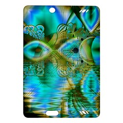 Crystal Gold Peacock, Abstract Mystical Lake Kindle Fire Hd 7  (2nd Gen) Hardshell Case by DianeClancy