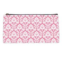 Soft Pink Damask Pattern Pencil Case