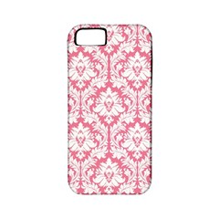 White On Soft Pink Damask Apple Iphone 5 Classic Hardshell Case (pc+silicone) by Zandiepants
