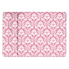 White On Soft Pink Damask Samsung Galaxy Tab 10 1  P7500 Flip Case by Zandiepants