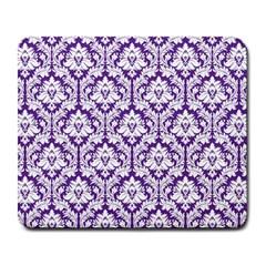 White On Purple Damask Large Mouse Pad (rectangle) by Zandiepants