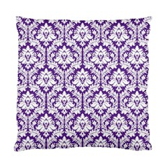 Royal Purple Damask Pattern Standard Cushion Case (two Sides) by Zandiepants