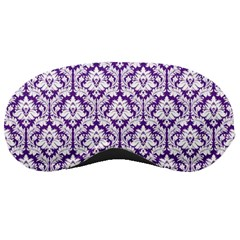 Royal Purple Damask Pattern Sleeping Mask by Zandiepants