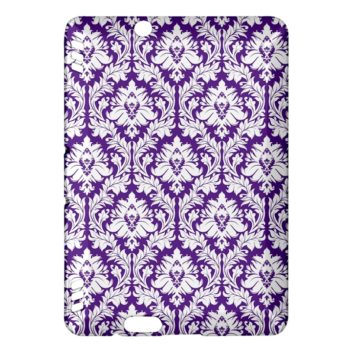 White on Purple Damask Kindle Fire HDX 7  Hardshell Case
