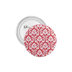 White On Red Damask 1 75  Button by Zandiepants