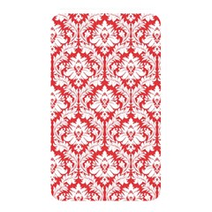 White On Red Damask Memory Card Reader (rectangular) by Zandiepants