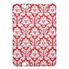 White On Red Damask Kindle Fire Hd 8 9  Hardshell Case by Zandiepants