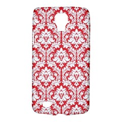 White On Red Damask Samsung Galaxy S4 Active (I9295) Hardshell Case by Zandiepants