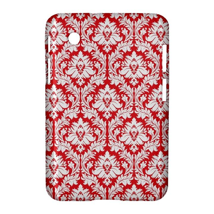 White On Red Damask Samsung Galaxy Tab 2 (7 ) P3100 Hardshell Case
