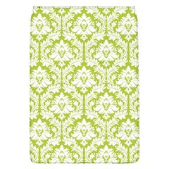 White On Spring Green Damask Removable Flap Cover (Large) by Zandiepants