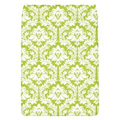 White On Spring Green Damask Removable Flap Cover (small) by Zandiepants