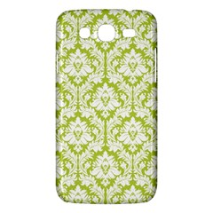 White On Spring Green Damask Samsung Galaxy Mega 5 8 I9152 Hardshell Case  by Zandiepants
